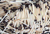 Pattern of the wooden matches — Stock Photo