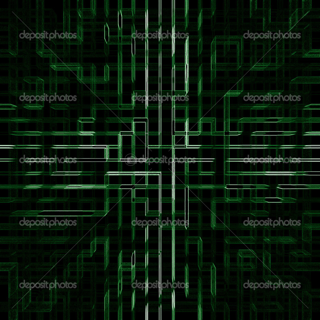 Abstract texture from green electric lines — Stock Photo #1771132