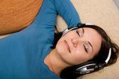 Enjoying music — Stock Photo