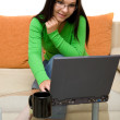 Woman with laptop - Foto de Stock