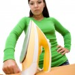 ironing woman — Stock Photo