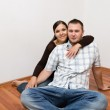 Happy couple at new home — Stock Photo #1641758