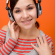 Enjoying music — Stock Photo