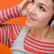 Enjoying music — Foto Stock