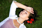 Relaxing woman — Stock Photo