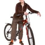 Woman on bike — Stock Photo #1660619