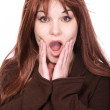 Red haired woman — Stock Photo