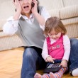 Working and parenting - Stock Photo