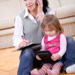Stock Photo: Working and parenting