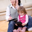 Working and parenting — Stock Photo