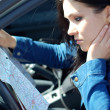Woman with map — Stock Photo #1679754