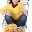 Royalty-Free Stock Photo: Woman with shopping cart