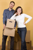 Couple moving in — Stock Photo