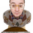 Royalty-Free Stock Photo: Nerd with keyboard