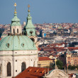Panoramic view of the Prague — Stock Photo
