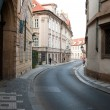 Street at old town in Prague — Stock Photo