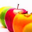 Row of fruits — Stock Photo