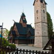 Church and stone belfry — Lizenzfreies Foto