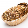 Stock Photo: Wholemeal bread in wicker basket