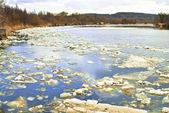 川の流氷 — ストック写真