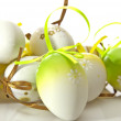 Easter eggs in nest — Stock Photo #2550063