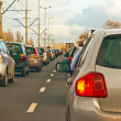 Traffic jam in rushhour - Stock Photo