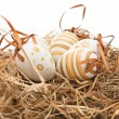 Easter eggs in nest — Stock Photo #2550163