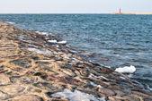 Stone seashore — Stock Photo