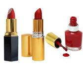 Varnish and lipstick — Stock Photo
