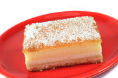 Cheesecake-style speciality — Stock Photo