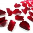 Red rose petals as background — Stock Photo