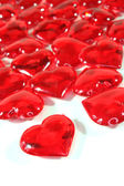 Red hearts as background — Stock Photo
