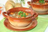 Wild mushroom soup — Stock Photo