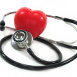 Stethoscope with red heart — Stock Photo
