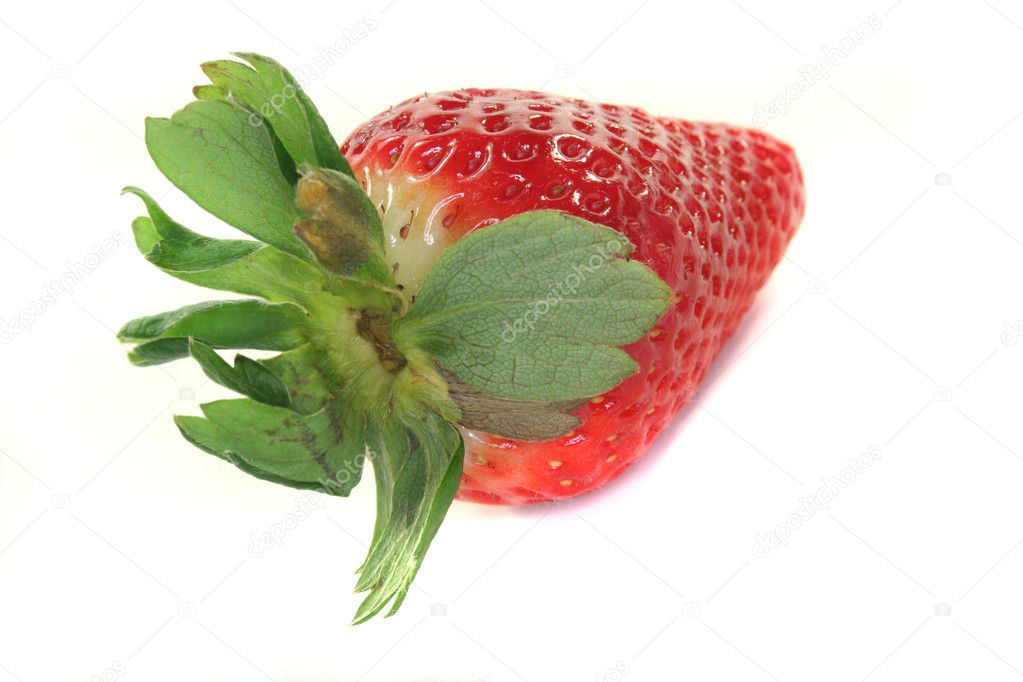 A strawberry on a white background — Stock Photo #2419862