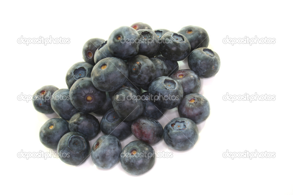 Blueberries on a white background — Stock Photo #2419894