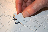 The last piece of the puzzle — Stock Photo