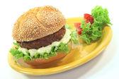Meatball with bun — Stock Photo