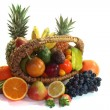 Fruit basket with various fruits - Stock Photo