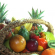 Fruit basket with various fruits — Stock Photo #2551169