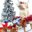 Sleigh with Christmas gifts — Stock fotografie #2559656