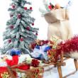 Stock Photo: Sleigh with Christmas gifts