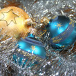 Foto Stock: Christmas tree balls