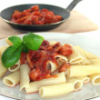 Stock Photo: Tortiglione with tomato sauce