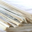 Stock Photo: Paper stack