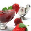 Red berry compote — Stock Photo