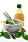 Herbal Vinegar — Stock Photo