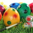 Foto Stock: Paint Easter eggs