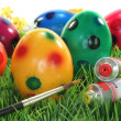 Paint Easter eggs — Stock Photo