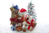 Christmas Teddy — Stock Photo